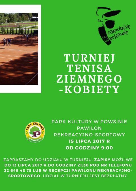 Turniej tenisa ziemnego kobiet @ Pawilon rekreacyjno-sportowy