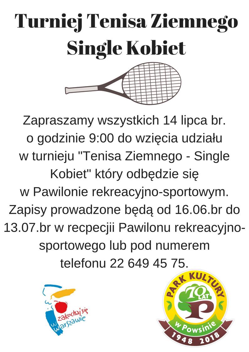 Turniej tenisa ziemnego - Single Kobiet