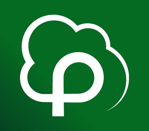 logotyp parku w kształcie drzewa
