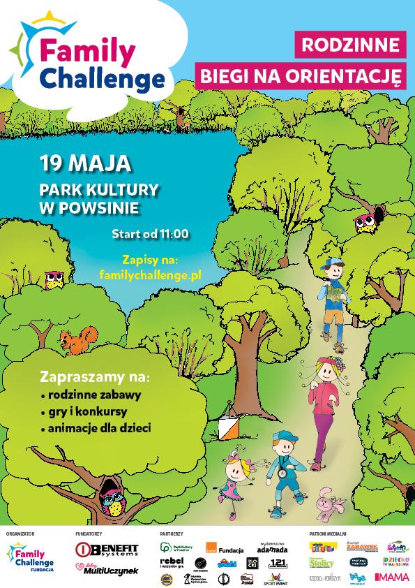 Rodzinne biegi na orientację @ Park Kultury w Powsinie