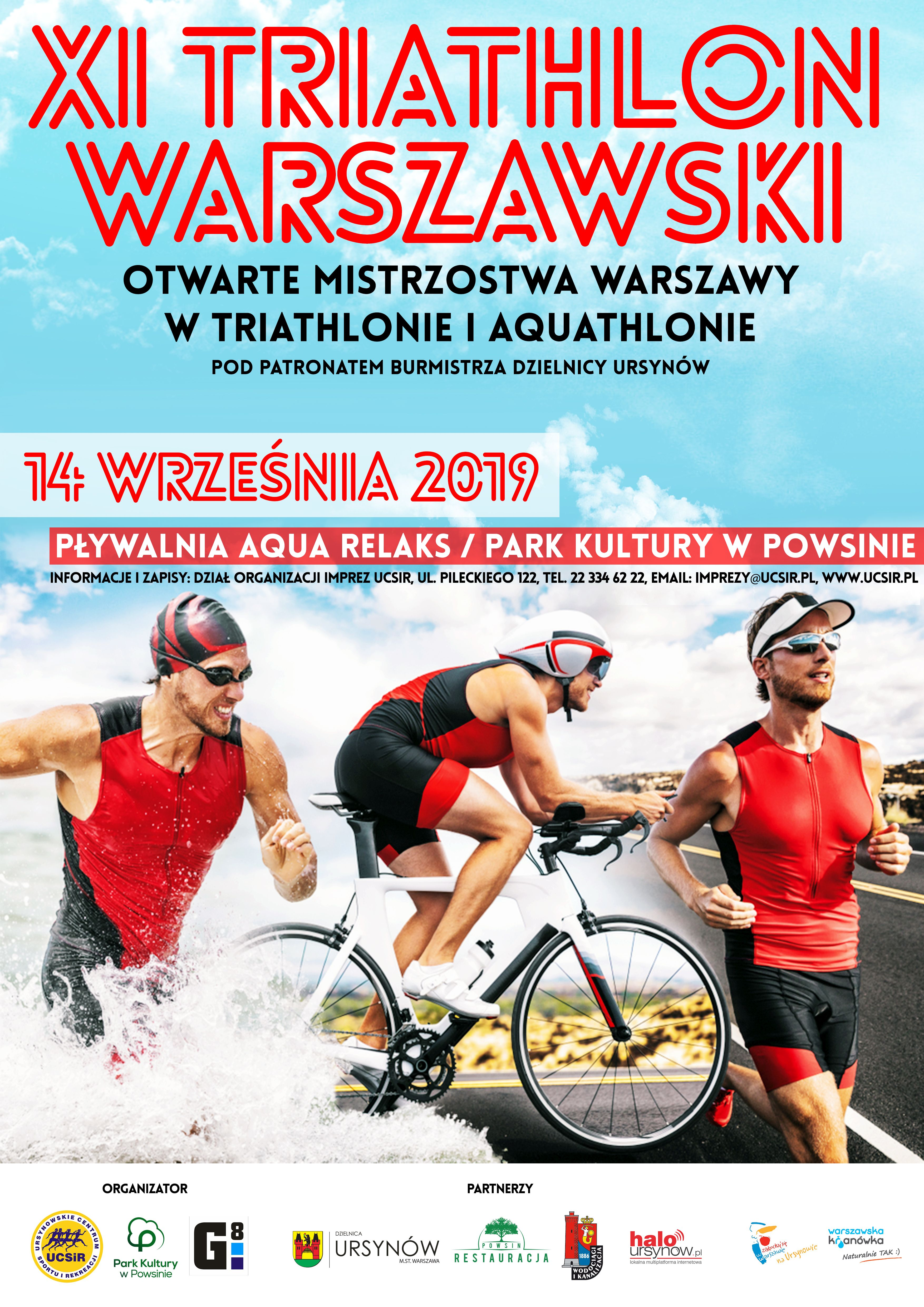 plakat 11 triathlon warszawski