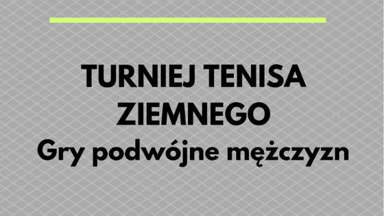 Tenis ziemny - Gry podwójne mężczyzn