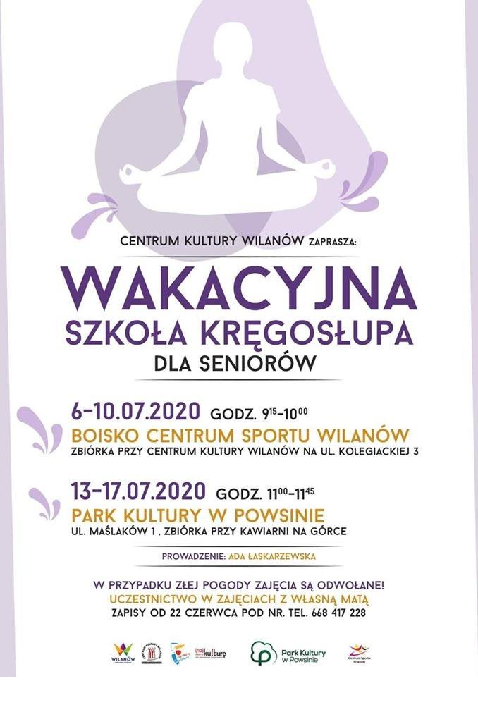 Wakacyjna szkoła kręgosłupa dla seniorów @ Maślaków 1