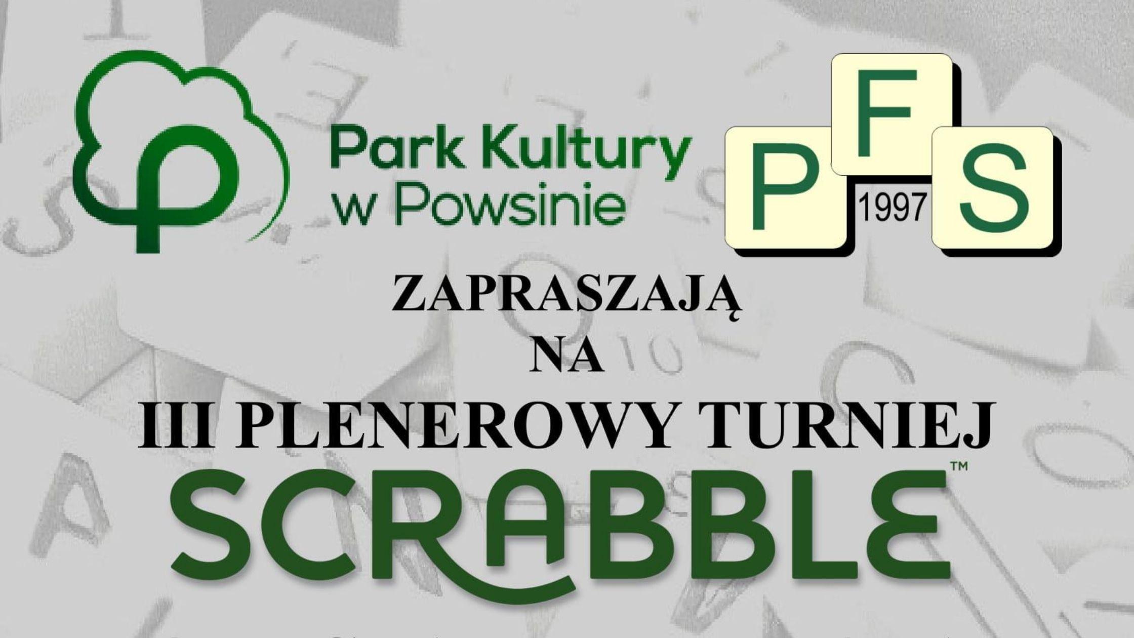 III Plenerowy Turniej Scrabble o Puchar Dyrektora Parku Kultury w Powsinie