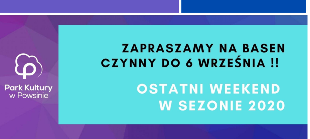 banner - ostatni weekend basen