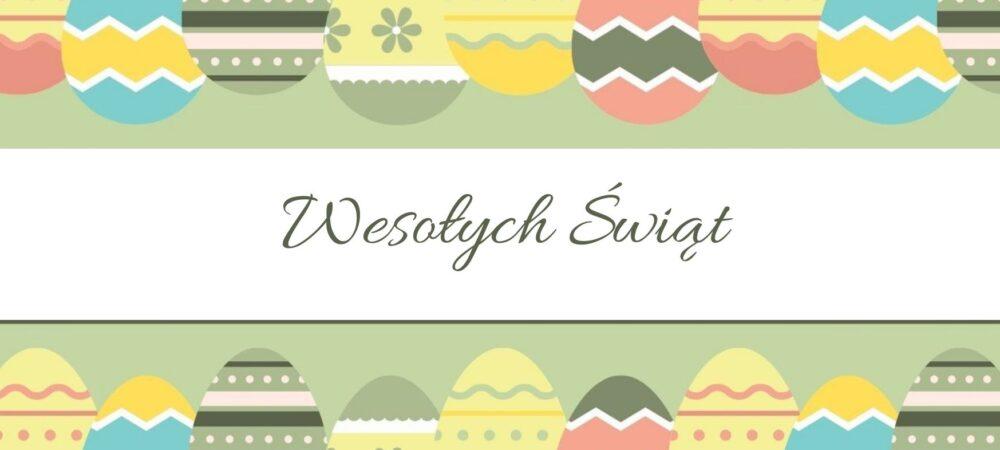 Baner z tekstem Wesołych Świąt